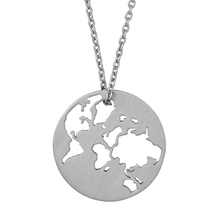 Load image into Gallery viewer, Beautiful World necklace - silver