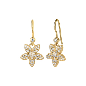 Forget-me-not sparkle earring - gold