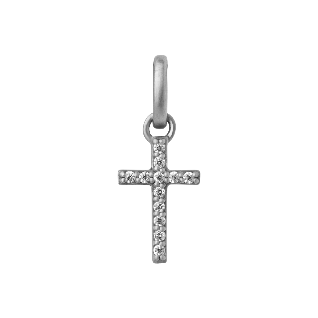 Cross pendant - silver