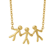Load image into Gallery viewer, Together Family 3 necklace - gold