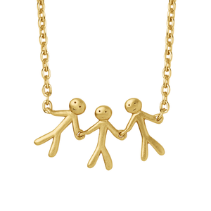 Together Family 3 necklace - gold