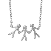 Load image into Gallery viewer, Together Family 3 necklace - silver