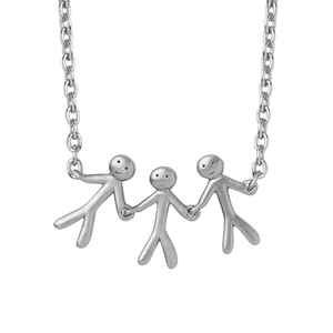 Together Family 3 necklace - silver