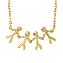 Load image into Gallery viewer, Together Family 4 necklace - gold