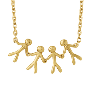 Together Family 4 necklace - gold