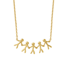 Load image into Gallery viewer, Together Family 5 necklace - gold