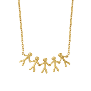 Together Family 5 necklace - gold