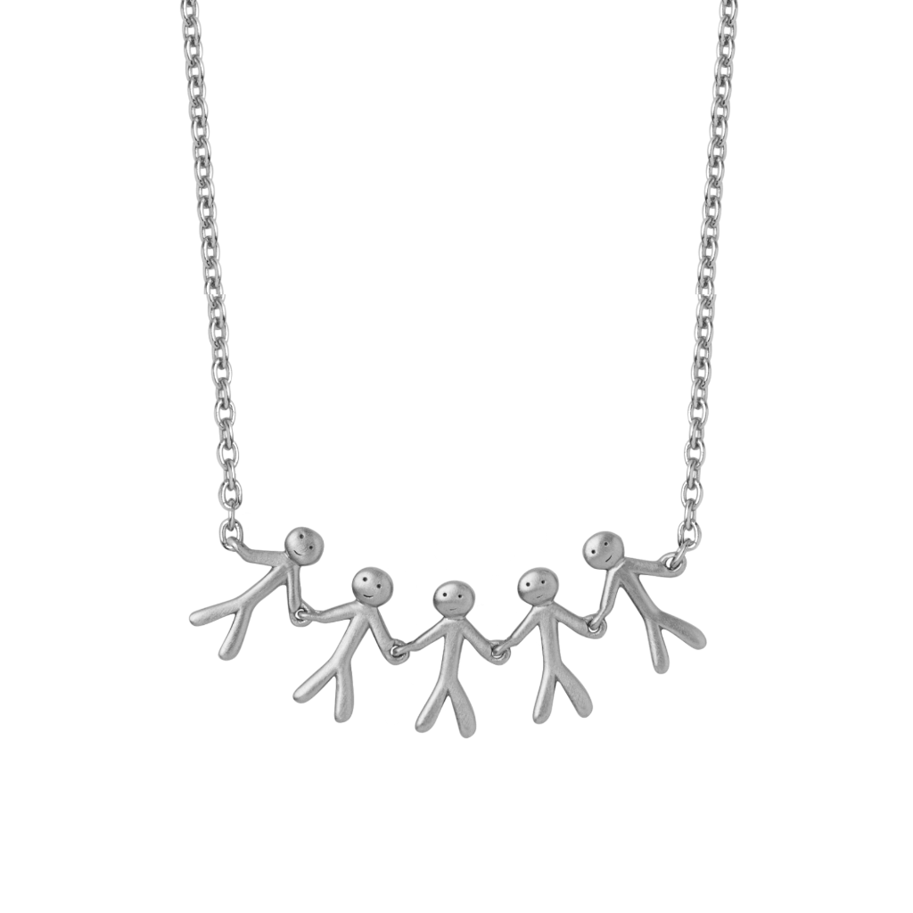Together Family 5 necklace - silver