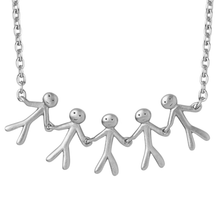 Load image into Gallery viewer, Together Family 5 necklace - silver