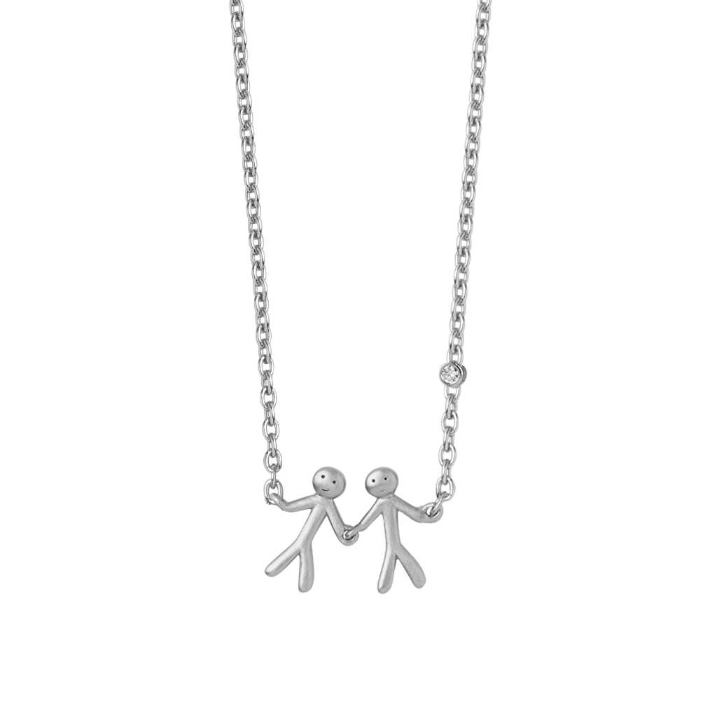 Together My Love necklace - silver