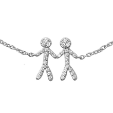 Load image into Gallery viewer, Together You & Me bracelet - silver