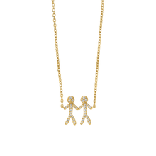 Load image into Gallery viewer, Together You & Me necklace - gold