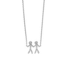 Load image into Gallery viewer, Together You & Me necklace - silver