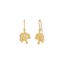 Load image into Gallery viewer, Life Tree earring - gold