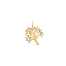 Load image into Gallery viewer, Life Tree sparkle pendant - gold