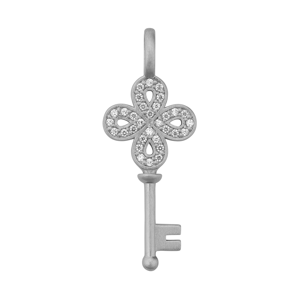 Unlock Happiness pendant - silver