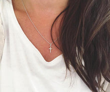 Load image into Gallery viewer, Cross pendant - silver