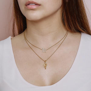 Forest necklace - gold