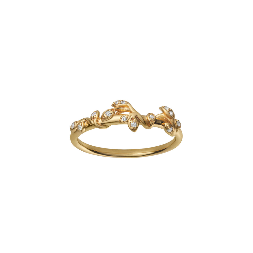 Jungle Ivy sparkle ring - gold