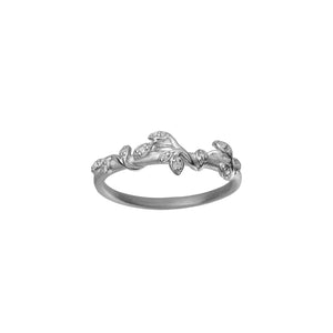 Jungle Ivy sparkle ring - silver