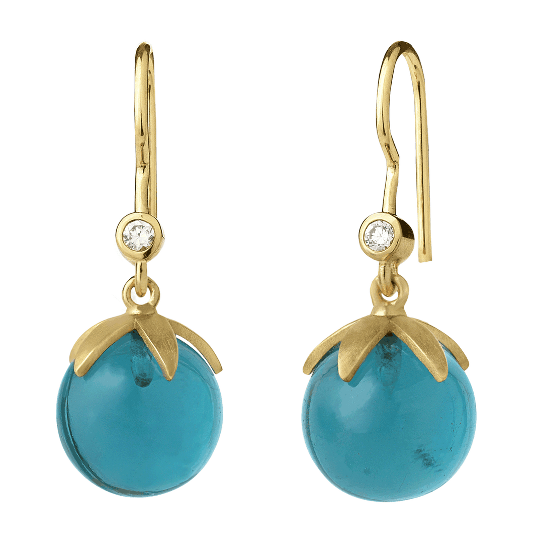 Magic earring - blue gold
