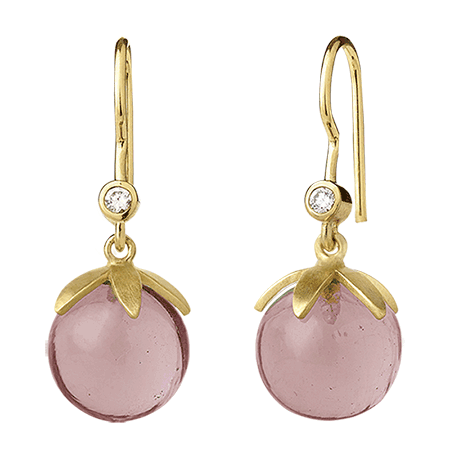 Magic earring - pink gold