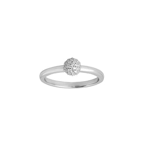 Miniature sparkle ring - silver