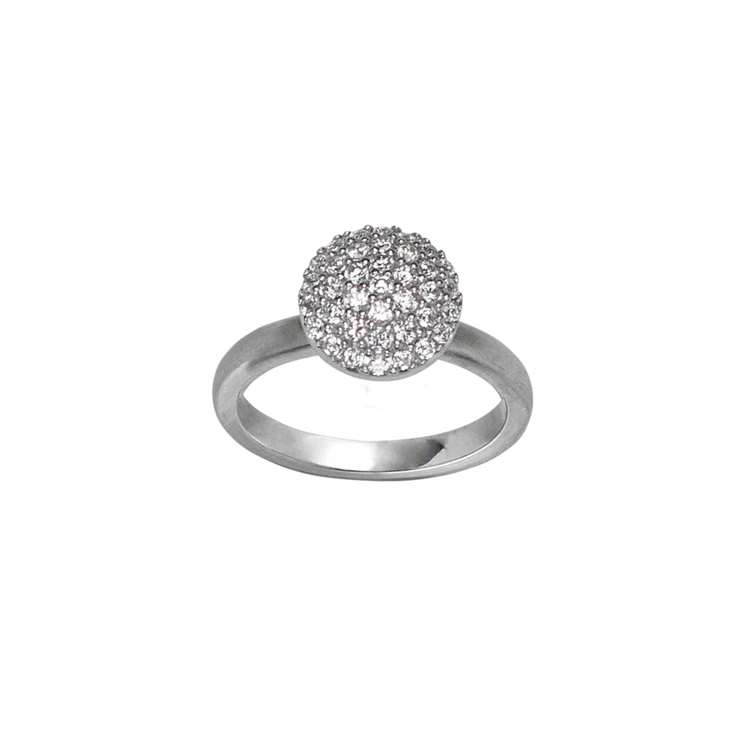 Mini sparkle ring - silver