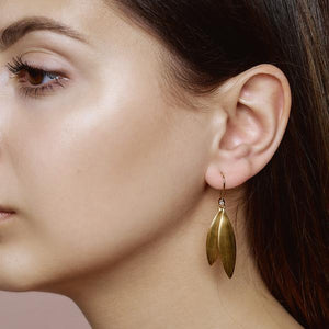 Olive earring - gold