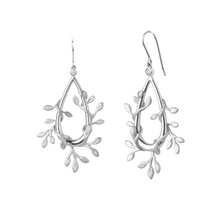 Load image into Gallery viewer, Jungle Ivy earrings show - silver