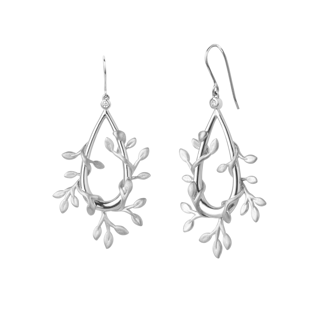 Jungle Ivy earrings show - silver