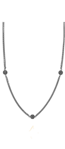 Venus Sparkle necklace trio - black