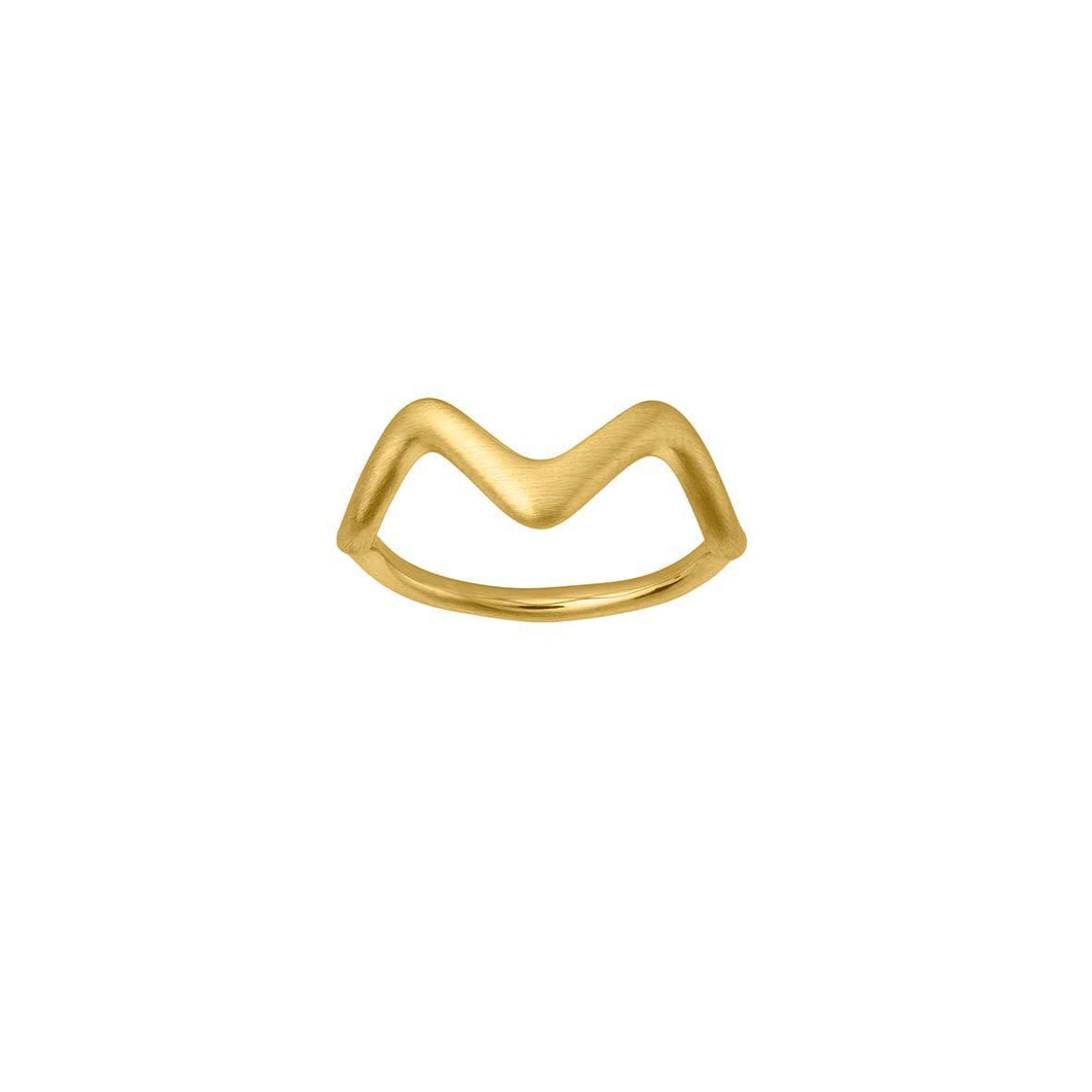 Wave ring small - gold