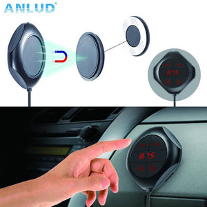 Car MP3 Player, Bluetooth FM Transmitter, HandsFree Magnetic Base, With Dual USB Car Charger - BelCorner