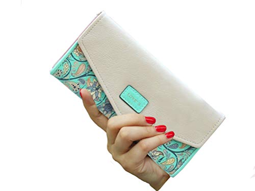 Womens Wallet Floral Leather Western Bifold Clutch - BelCorner