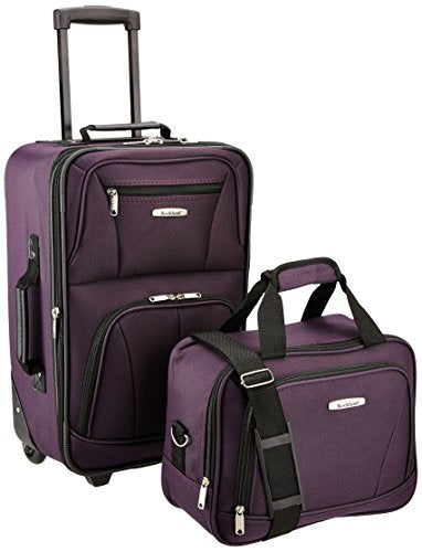 Luggage 2 Piece Set, Purple, One Size | Luggage Sets - BelCorner