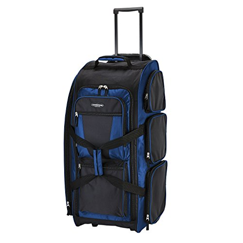 Adventure 30 Inch Rolling Multi-Pocket Upright Luggage, Neon Blue Color Option Duffel Bag One Size - BelCorner