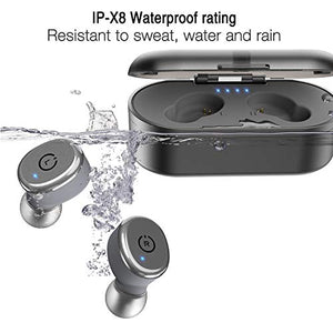 Bluetooth 5.0 Wireless Earbuds with, IPX8 Waterproof, TWS Stereo Headphones in-Ear Built-in Mic, Premium Sound with Deep Bass for Sport - BelCorner