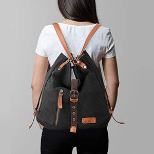 Purse Handbag for Women Canvas Tote Bag Casual Shoulder Bag School Bag Rucksack Convertible Backpack