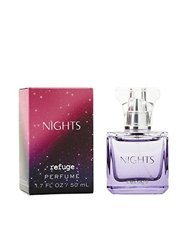 Russe Refuge Nights Perfume Original Version Black With Pink Glitter Packaging 1.7 Ounce - BelCorner