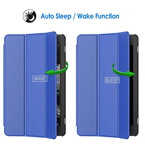 Case for Amazon Fire 7 Tablet (7th Generation 2017 Release Only) Smart Cover with Auto Sleep/Wake - BelCorner