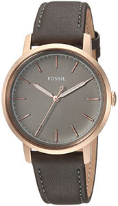 Fossil Women's Jacqueline Stainless Steel Quartz Watch with Leather Calfskin Strap - BelCorner