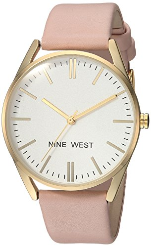 Nine West Women's Rose Gold-Tone and Grey Strap Watch - BelCorner
