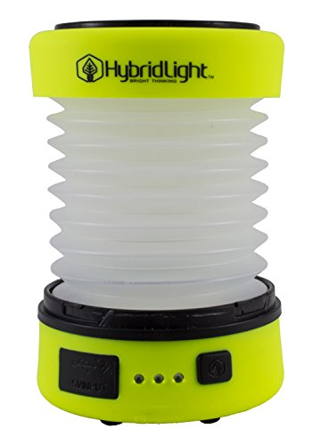 Hybridlight Solar Rechargeable Lantern/Cell Phone Charger. 150 Lm. Built in Solar Panel, Hi-Vis Yellow - BelCorner