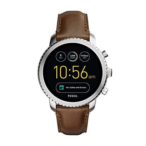 Fossil Q Men's Gen 3 Explorist Stainless Steel and Leather Smartwatch - BelCorner