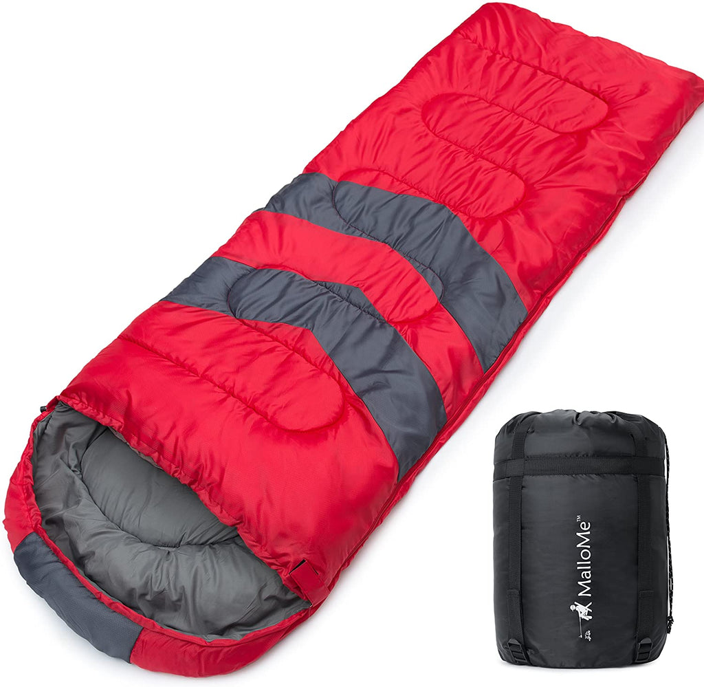 Camping Sleeping Bag - 3 Season Warm & Cool Weather - Summer, Spring, Fall, Lightweight, Waterproof for Adults & Kids - Camping Gear Equipment, Traveling, and Outdoors