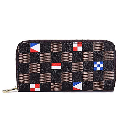Retro Wallet for Women, Long Wallet Clutch Tri-fold Credit Card Holder with Box - BelCorner