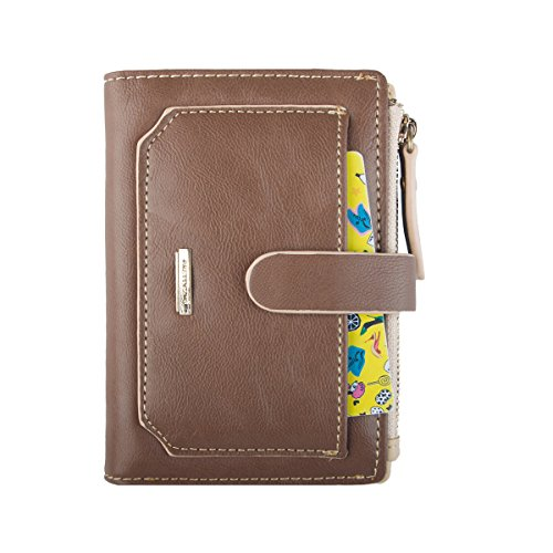 Womens Wallet Candy Color Bifold Mini Vintage Card Holder Compact Wallet for Women - BelCorner
