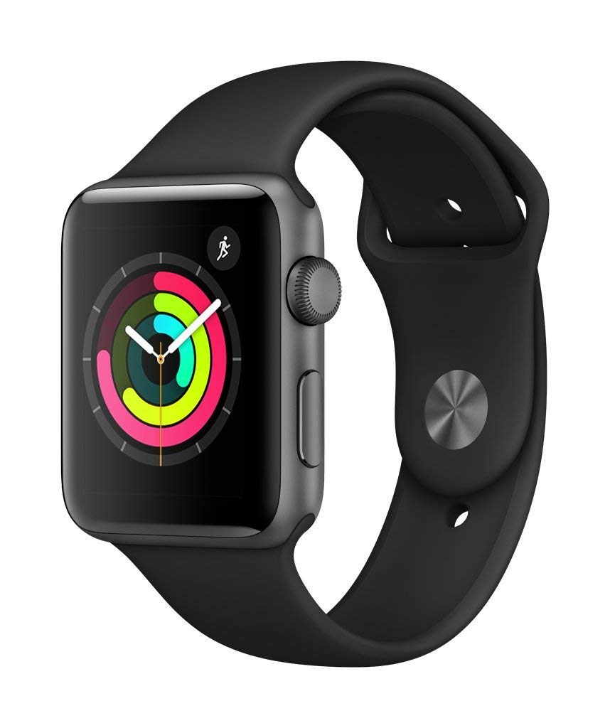 Apple Watch Series 3 (GPS, 42mm) - Space Gray Aluminium Case with Black Sport Band - BelCorner