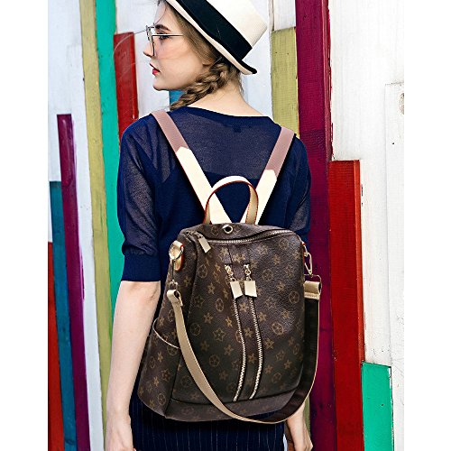 Designer Leather Backpack Purse for Women, Fashion PU Shoulder Bag Handbags - BelCorner